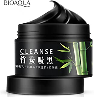 BIOAQUA Activated Carbon Purifying Mask Bamboo Charcoal Removes Blackheads Nourish Skin Cleanses 140g