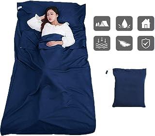 comprar comparacion ALISTAR Saco de Dormir para Acampar, Bolsa de Dormir Microfibra 220 x 115 cm Sábanas Interiores Ultraligeros Transpirable,...