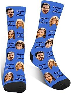 Luincas, Calcetines Personalizados Cara, Estampados Calcetines Graciosos, Animales Calcetin Personalizado,Calcetines Divertidos Hombre Mujer