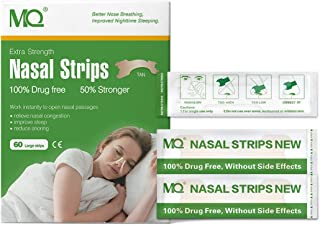 MQ 120 ct Better Breathe Nasal Strips to Reduce Snoring, Drug-Free, Works Instantly to Improve Sleep, Relieve Nasal Congestion Due to Colds & Allergies
