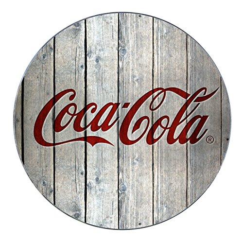 Wenko Topfuntersetzer Coca-Cola Wood Hitzebeständiger Untersetzer für Töpfe und Pfannen, Gehärtetes Glas, Mehrfarbig, 20 x 20 x 0,1 cm