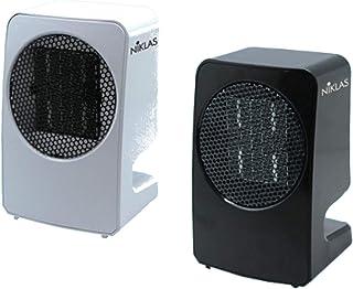 Termoconvector, calefactor de Niklas, modelo Dolby, color negro, con resistencia de cerámica y motor silencioso.