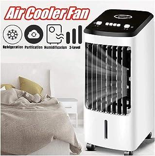 MSQL Aire Acondicionado portátil de 70W 220V / Enfriador de humidificador de Ventilador de acondicionamiento silencioso temporizado, con Ruedas y Tanque de Agua de 4L