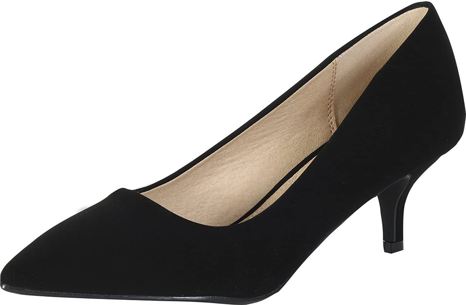 City Classified by Soda Women's Hailey Dress Pointd Toe Kitten Heel Pumps