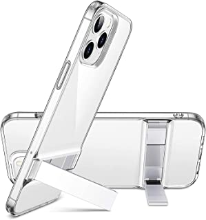 ESR Case for iPhone 12 (Max pro - Pro - 12 -Mini) Transparent Flexible TPU - Metal Kickstand - High Protection - Crystal C...