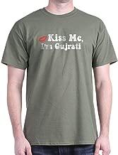 CafePress Kiss Me, I'm Gujrati. Dark T-Shirt Cotton T-Shirt