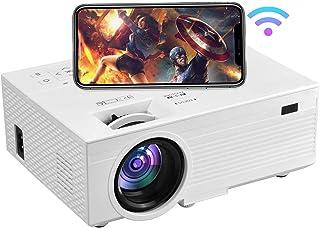 Proyector 1080P, proyector WiFi, proyector de películas portátil OSEVEN, proyector de video de cine en casa compatible con...