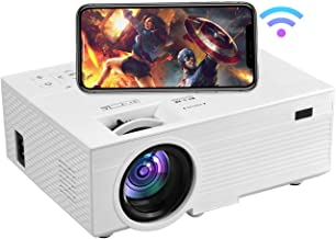 $169 » OSEVEN Wi-Fi Mini Projector, 6000 Lux,1080P Full HD Movie Projectors, Compatible with TV Stick, Video Games, HDMI,USB,TF,V...