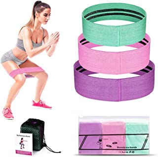 DETUCK (TM Resistance Bands for Legs and Butt, Non Slip Fabric Exercise Bands Set, 3 Size Workout Bands Elastic Bands for ...