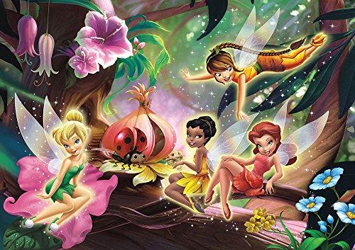 empireposter Disney - Foto-Tapete Disney Feen Tinkerbell Version 2 - Größe 368 x 254 cm - 4-teilig