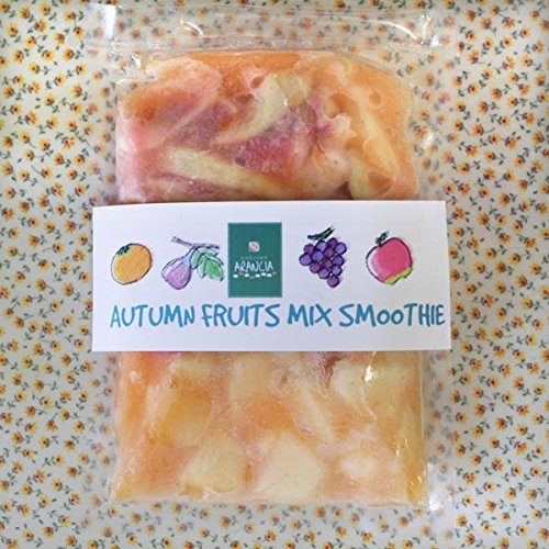 【冷凍便】和歌山産「秋フルーツミックス・スムージー」農家さんから直接分けてもらうくだもの(イチジク+ぶどう+リンゴ+オレンジ+みかんの花の蜂蜜)のフローズンフルーツジュース・冷凍果物