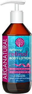 Arganatural Tightening Body Lotion with Retinol, Caffeine & Hyaluronic - Noticeably Tightens & Nourishes Aging Skin, Normal to Cellulite Prone Skin, for all Skin Types 32oz / 960ml