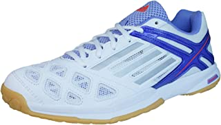 adidas Feather Team Womens Badminton Trainers/Shoes - White