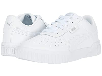 Puma Kids Cali (Little Kid) (White/High-Rise) Girls Shoes