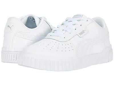 Puma Kids Cali (Little Kid) (White/High-Rise) Girls Shoes