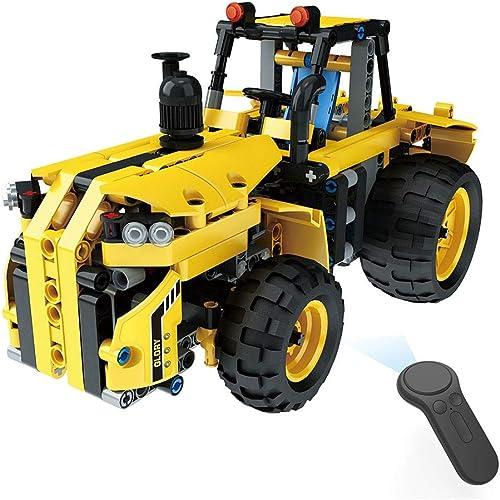 CGIIGI 382 UNIDS Montaño Tractor Eléctrico Inteligente 2.4G de Cuatro vías de Control Remoto Camión Puzzle DIY Montaño Bloques de Construcción Boy Cumpleaños Presente