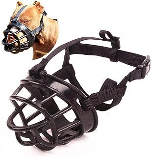 Umisun Basket Dog Muzzles-Soft Adjustable Breathable Mask Anti Biting Chewing Barking Training Dog Muzzle for Small Medium Large Dogs