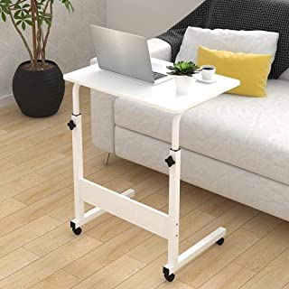 Laptop Stand Adjustable 60/80 * 40cm Computer Standing Desk w/Wheels Portable Side Table for Bed Sofa Hospital Reading Eat...