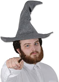 Beistle 60348 Felt Wizard hat, One Size Fits Most Most, Gray, 1 Piece Pack