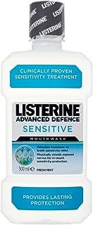 Listerine 500ml Advanced Defence Sensitive Mouthwash Fresh Mint
