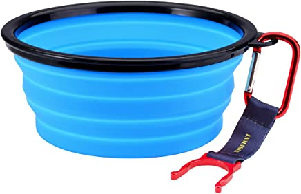 INMAKER Collapsible Dog Bowl, FDA Approved Silicone Pet Bowl for Dog Cat, BPA Free Portable Travel Bowl