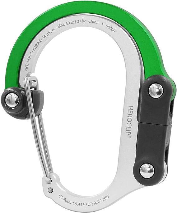 HEROCLIP Carabiner Clip and Hook (Medium) | For Camping