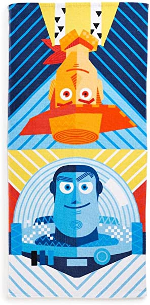 Jumping Beans Toy Story Buzz And Woody Children S 28 X 58 Beach Bath Towel