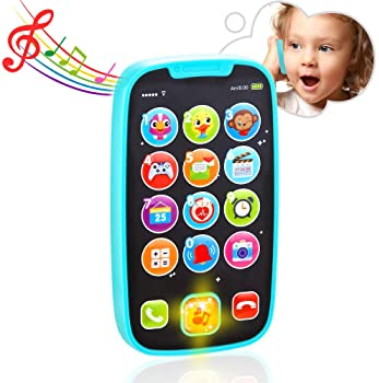 VATOS Baby Toys, Baby Play Phone Toys with Lights, Music| Early Educational Learning Toys for Baby 8M -12M -24M + My ...