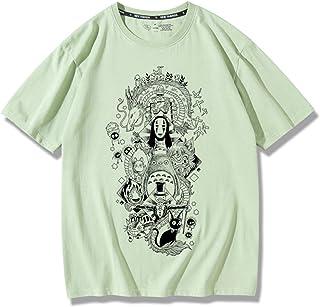 私の隣人トトロTシャツ、ユニセックス半袖Tシャツ宮崎駿アニメファンメンズ&女性カジュアルフィット、ユースボーイガールストリートファッショントップス