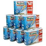 24 Rolls Of Regina Blitz 3ply Kitchen Roll Paper Towels - 70 sheets each roll.