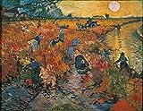 Art-Galerie Digitaldruck/Poster Vincent Van Gogh - Der rote Weinberg - 65 x 50cm - Premiumqualität - Made in Germany