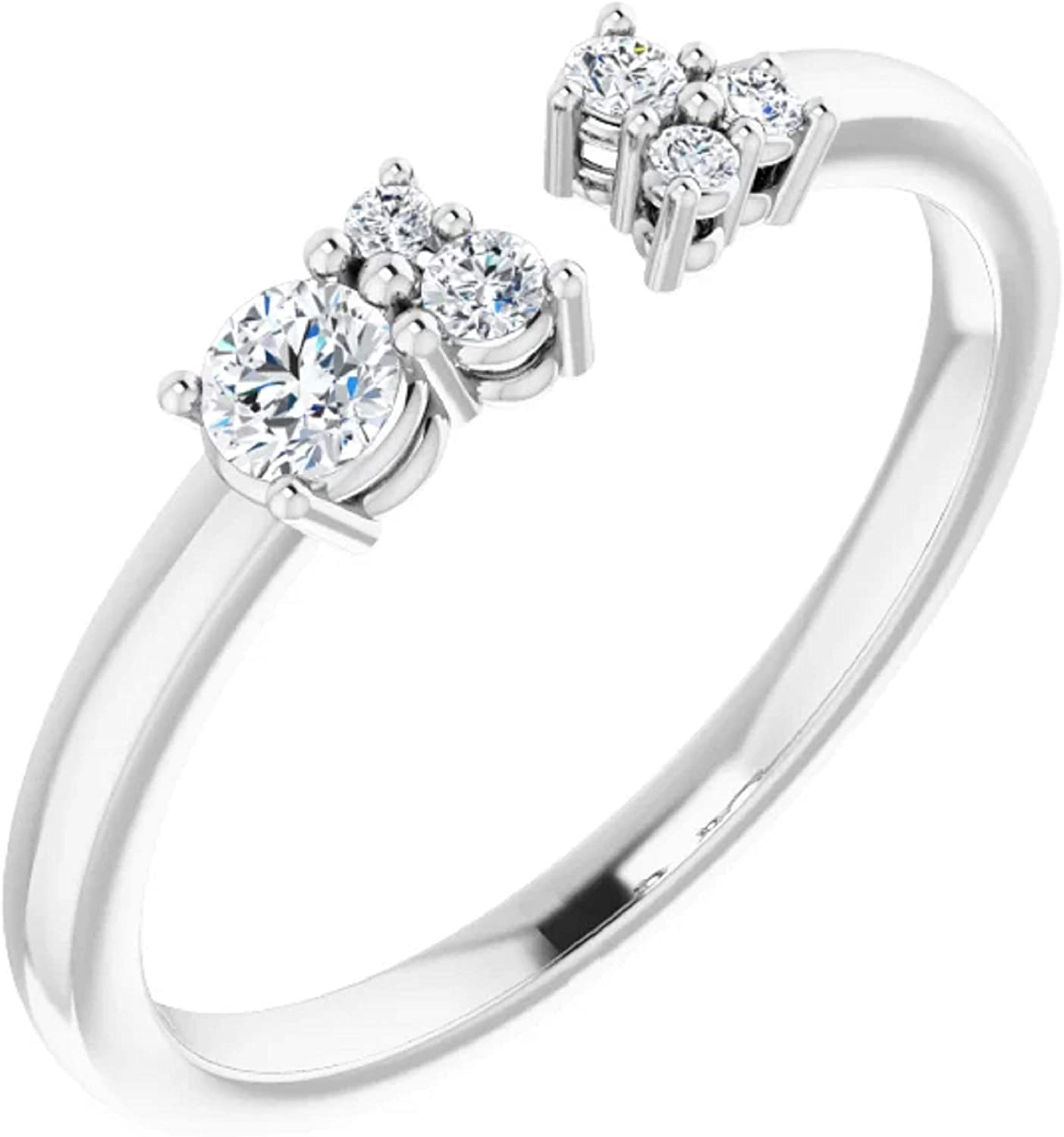 14K White Gold 1 Max 52% OFF 6 CTW size Ring 9 Space Fort Worth Mall Negative Diamond