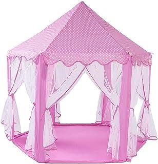 JLHBM أطفال يلعبون خيمة الفتيات اللعب الأميرة القلعة تلعب خيمة أطفال بلايز مع أضواء ستار هدية للأطفال ألعاب داخلية وخارجية...