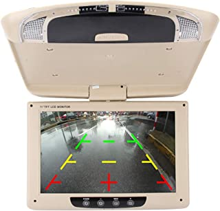 ZJJUN Electronics Video Audio Car Auto Roof 11 inch 800 * 480 Rear View PAL/NTSC Color Car Monitor Surveillance Cameras Mo...
