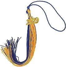 blue and gold graduation tassel