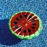 Colchoneta inflable para agua con forma de sandía, colchón flotante flotante para piscina o fiesta, juguete