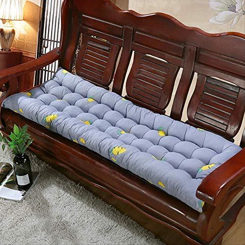 tonywu Bench Cushion Garden Chair Pad Mat, Thick Seat Cushion Chaise Swing Cushion, Tatami Mat Lounger Recliner Cushion Pad 55 * 160CM gray