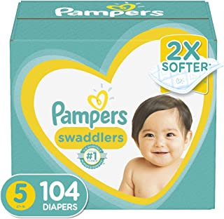 Diapers Size 5, 104 Count - Pampers Swaddlers Disposable Baby Diapers, Enormous Pack