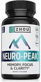 Zhou Neuro Peak Brain Support Supplement | Memory, Focus & Clarity Formula | DMAE,..