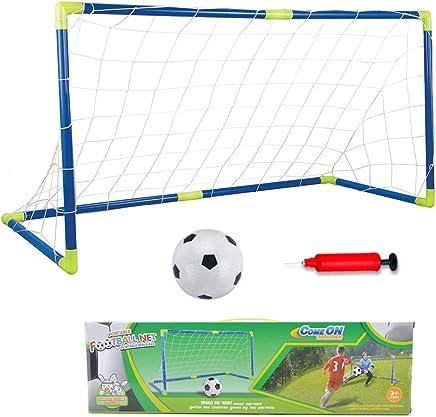 YIMORE 2er Set Kinder Fu/ßballtore mit Fu/ßball Tore und Pumpe Fussball Interaktiv Minitore Spielzeug Sportspa/ß f/ür Garten Indoor
