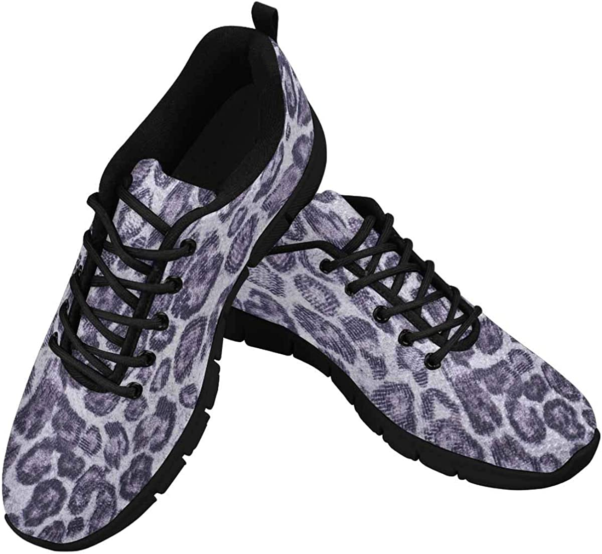 InterestPrint Animal Skin Print Background Women's Athletic Walking Shoes Breathe Comfort Mesh