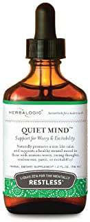 Herbalogic - Quiet Mind Liquid Herb Drops - Non-Sedating, Promotes a Feeling of Zen-Like Calm - Eases Anxious Worry and Pa...