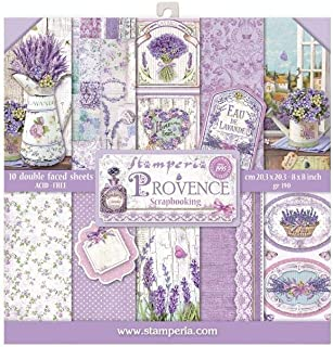 """Mini bloc Papier Scrap double Face 10 feuilles 20.3X20.3 (8""""X8"""") - Provence"""