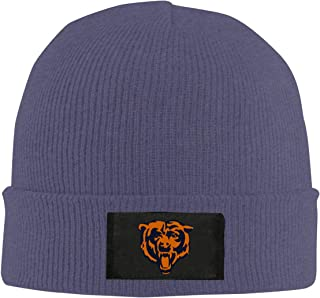 Chicago-Bears Winter Warm Knit Cuff Beanie Skull Cap Daily Beanie for Men & Women,Black,
