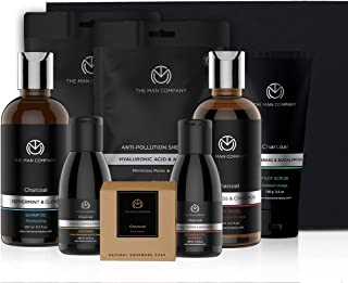 The Man Company Ultimate Charcoal Kit (Charcoal Body wash, Shampoo, Scrub, Face wash, soap, cleansing gel, Sheet mask*2) S...
