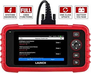 """LAUNCH Code Reader - CRP123X OBD2 Scanner for Engine Transmission ABS SRS Code Reader Car Diagnostic Tool, Android 7.0-Based Wi-Fi One-Click Free Updates, 5.0"""" Touchscreen, Upgraded Version of CRP123"""