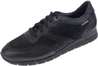 Mephisto - Zapatos de Cordones de Cuero para Mujer Negro Negro 37 EU