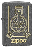 Zippo Lighter: Engraved Engine - Iron Stone 79149