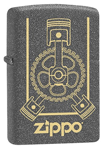 Zippo Lighter: Engraved Engine - Iron Stone 79149