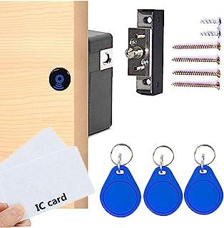 Electronic Cabinet Lock, RFID Electronic Cabinet Lock, Hidden DIY Lock, Electronic Sensor Lock, Punch-Free, Locker Lock, W...